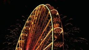 Ferris Wheel y fuegos artificiales metrajes