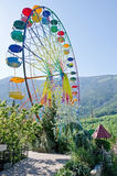 Ferris wheel in Yalta zoo Stock Image