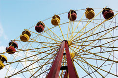 Ferris Wheel. Yellow and red Ferris Wheel Royalty Free Stock Photography