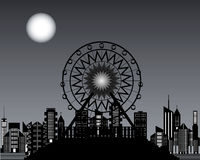 Ferris wheels at night time Stock Images