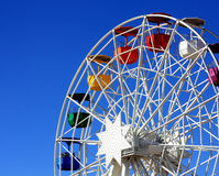 Ferrish-wheel in the Amusement Park on Mount Tibidabo in Barcelo Royalty Free Stock Image