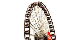 Ferrisna rullar in den Hong Kong centralen arkivfoto