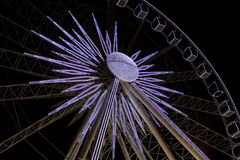 Ferriswheel. Big ferriswheel at night with lights on it Stock Photos