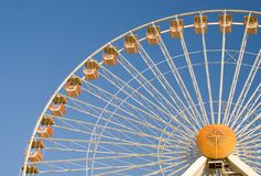 Ferriswheel. Looking up at a ferriswheel Royalty Free Stock Photos