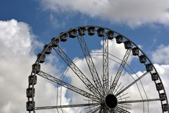 Ferriswheel on a cloudy day. In Holland Stock Photo
