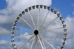 Ferriswheel on a cloudy day. In Holland Royalty Free Stock Image