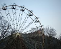 Ferriswheel. At the deserted amusement park Royalty Free Stock Photos