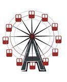 Ferriswheel. Drawing of a ferriswheel attraction Royalty Free Stock Photo