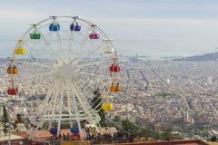Ferriswheel na Tibidabo parku rozrywki Obrazy Royalty Free