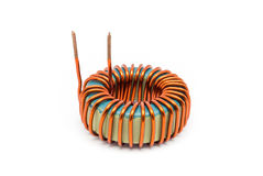 Ferrite Torroid Inductor for Switching Power Supply. Ferrite Toroid Inductor for Switching Power Supply stock image