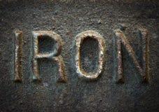 Ferro fotografia stock