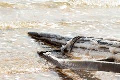 Ferro alla riva di mar Morto Fotografie Stock