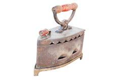 Ferro antico isolato Fotografie Stock