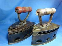Ferro antigo de pano Fotografia de Stock