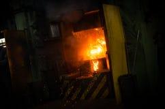Ferro caldo in smeltery Immagine Stock