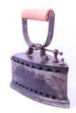 Ferro d'annata del carbone isolato su fondo bianco Fotografie Stock Libere da Diritti
