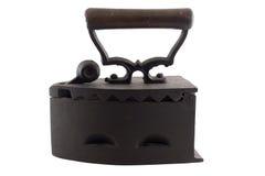 Ferro da lavanderia de carvão da antiguidade Imagens de Stock Royalty Free