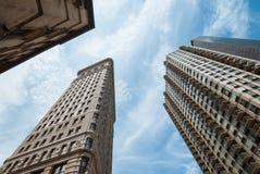 Ferro da stiro di skycrapers di architettura di NYC Fotografia Stock