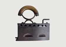 Ferro de passar roupa velho caloroso com carvão vegetal impetuoso #1 Foto de Stock