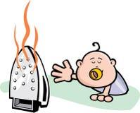 Ferro de rastejamento do bebê Fotos de Stock