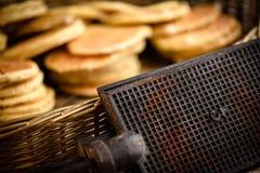 Ferro de waffle original Fotos de Stock Royalty Free