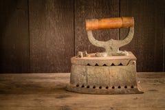Ferro di carbone di legna Immagine Stock Libera da Diritti