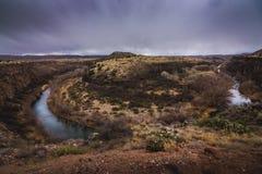 Ferro di cavallo del fiume di Verde fotografia stock libera da diritti