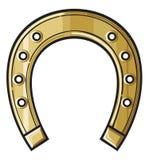 Ferro di cavallo dell'oro Fotografie Stock