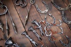 Ferro di cavallo fatto a mano Fotografia Stock