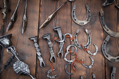 Ferro di cavallo fatto a mano Fotografia Stock Libera da Diritti