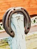 Ferro di cavallo fortunato Fotografie Stock