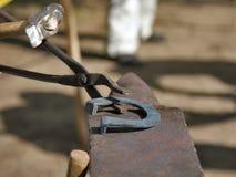Ferro di cavallo rovente Fotografia Stock