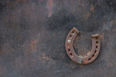 Ferro di cavallo sulla parete Immagine Stock Libera da Diritti