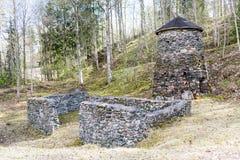Ferro di Klenshyttan che fa fondato nell'inizio del XVII secolo Immagine Stock Libera da Diritti