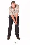 Ferro do jogador de golfe Imagem de Stock