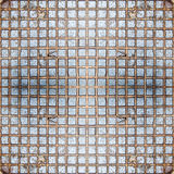 Ferro esquadrado sem emenda Textura, fundo, vintage Imagens de Stock Royalty Free