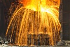 Ferro liquido immagine stock