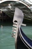 Ferro na gôndola, Veneza Imagens de Stock Royalty Free