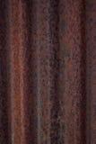 Ferro ondulado oxidado Imagens de Stock Royalty Free