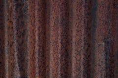 Ferro ondulado oxidado Fotografia de Stock