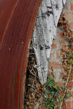 Ferro ondulato e legno stagionato Immagini Stock Libere da Diritti