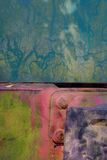 Ferro oxidado colorido Fotografia de Stock Royalty Free