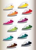 Ferro para a casa em 12 cores diferentes ilustração royalty free