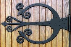 Ferro saldato decorato Doorhinge Immagini Stock