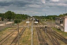 Ferrocarril. Foto de archivo