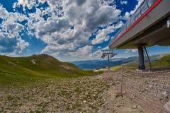 Ferrocarril aéreo de la montaña en Georgia Imágenes de archivo libres de regalías