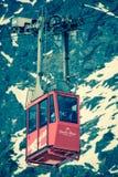 Ferrocarril aéreo en alto Tatras, Eslovaquia Foto de archivo libre de regalías