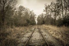 Ferrocarril abandonado en Luisiana rural Fotografía de archivo