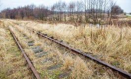 Ferrocarril abandonado viejo Foto de archivo