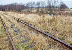 Ferrocarril abandonado viejo Fotografía de archivo libre de regalías